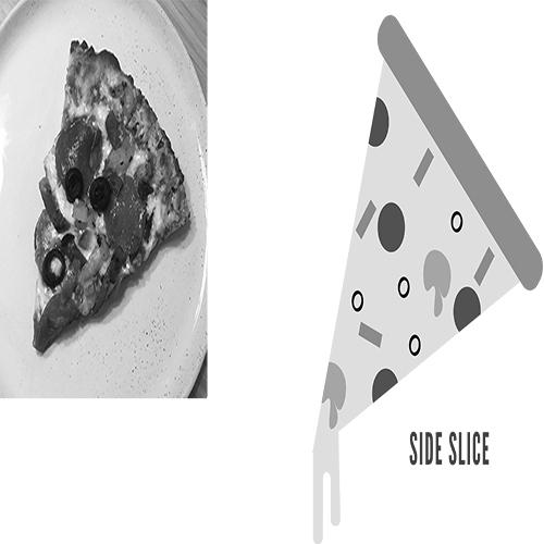 Logo Side Slice Pizza Logo, Food, restaurant. graphic.