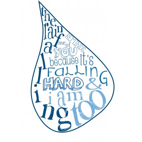 Raindrop Typography