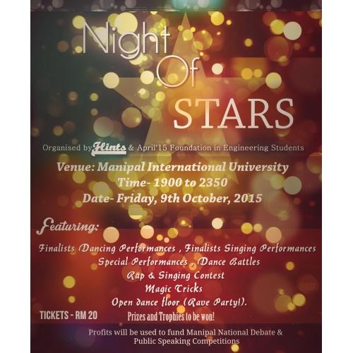 Night Of Stars Flyer