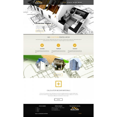 Webdesign sample for Brothers NVC Construct