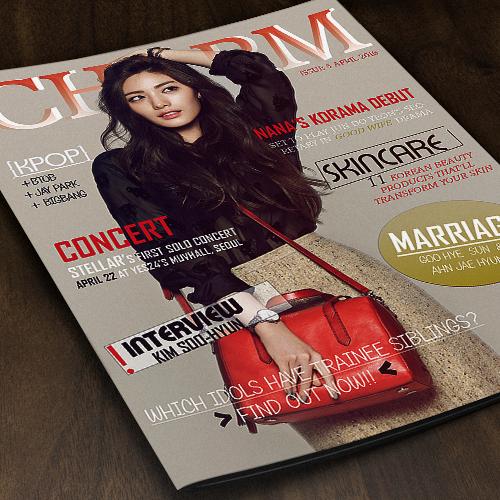 CHARM Korean Magazine Design