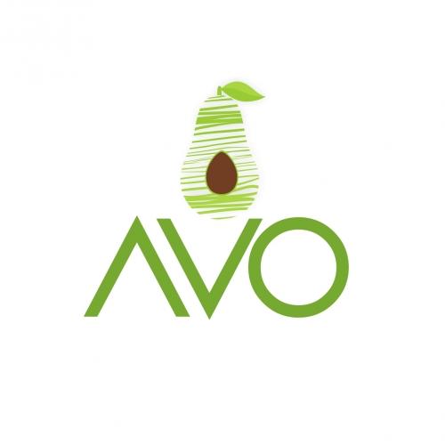 logo from illustration avocado