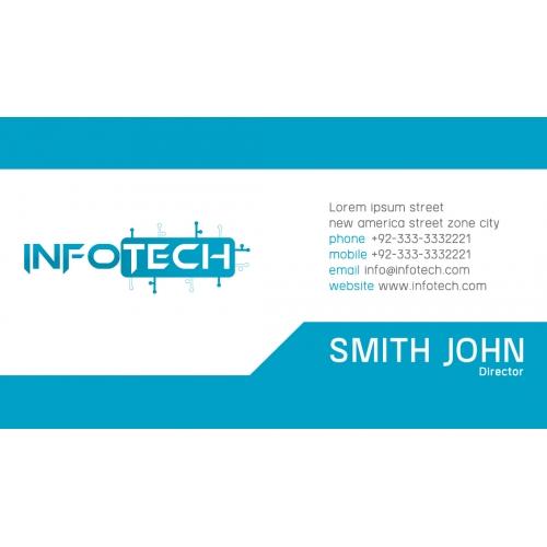Info tech business card